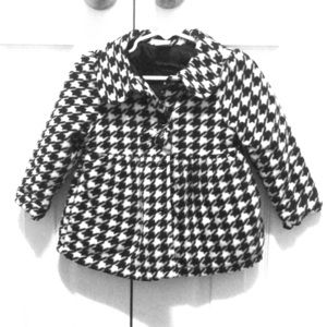 Used black and white coat